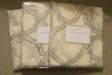 Pottery Barn Kendra Trellis Sheer Linen Drapes, Gray, 50 x 96, NIP
