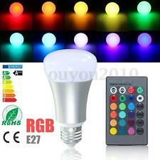 E27 20W RGB Dimmable Color Changing LED Bulb Spot Light Lamp w/ Remote 85-265V