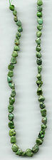 """GREEN HUBEI TURQUOISE NUGGET BEADS - 593 - 15.5"""" Strand"""