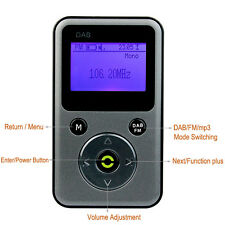 Pocket Radio DAB/DAB+FM Stereo Radio Receiver Support 32G TF Card MP3 Player NEW