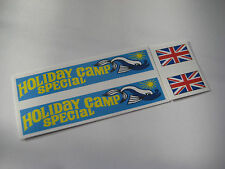 Corgi 508 Commer Holiday Camp [ Blue ]Special Sticker Decals - Full Set