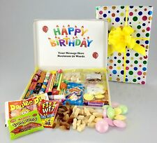 Sweet Bonanza Large RETRO SWEET Hamper Box HAPPY BIRTHDAY Add Personal Message