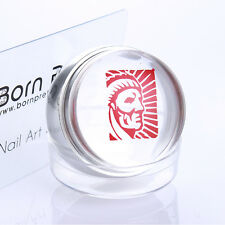 Nail Art Stamper Silver Clear Jelly Chess Pattern with Cap & BORN PRETTY Scraper