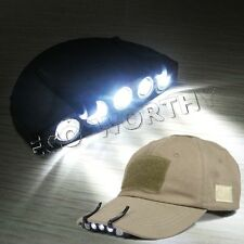 5 LED High Power Headlight Hat Lamp Cap Light for Bicycle Fishing Camping Cap