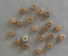 20x 14mm MISPRINT Wooden Dice (new, 14mm d6, wood)