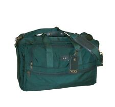 "TUMI Fusion Z 21"" Duffle Bag / Weekender / Carry-On ~ Emerald Green `Made in USA"