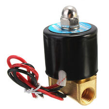 "12V DC 1/4"" Electric Solenoid Valve N/C for Water Air Gas Diesel 2-Way/Position"