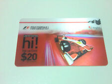 Formula One F1 Singapore night race 2012 top up card