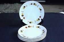 Vintage Autumn Leaf Design Side Tea Plates x 6 by H. Aynsley & Co. Ltd