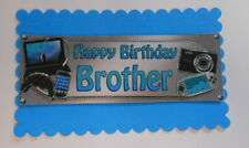 PK 2 HAPPY BIRTHDAY BROTHER EMBELLISHMENT TOPPERS FOR CARDS AND CRAFTS