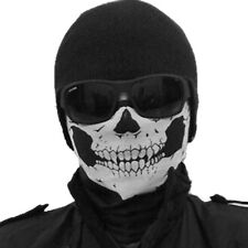 Motorcycle Bike Skull Multi Functional Headwear Hat Scarf Face Mask Cap Balck