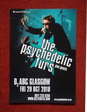 Psychedelic Furs O2 ABC Glasgow 29 Oct 2010 poster...A3 size, ideal for framing!