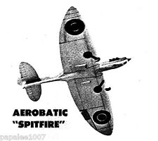 "Model Airplane Plans (UC): SPITFIRE 58"" Stunt for .35 Engine by Charles Mackey"