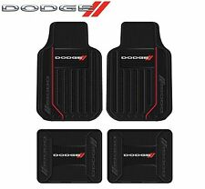 4 PC DODGE LOGO ELITE FLOOR MATS FITS CHARGER CHALLENGER DART MAGNUM & MORE