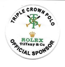 Patch, toppa, TRIPLE CROWN OF POLO + SPONSOR ROLEX COD P097- Cucire