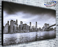 New York Manhattan Landscape Panoramic Canvas Print XXL 4.5 ft wide x 2 ft high