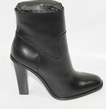 AUTH $1145 YSL Yves Saint Laurent Hunt Chunky Zipper Ankle Boots Booties 39.5