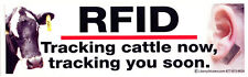 RFID: Tracking Cattle Now, Tracking You Soon - Magnetic Bumper Sticker Magnet