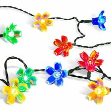 Solar Christmas String Lights,easyDecor 50 LED Flower 23ft Multi-color 8Mode NEW