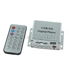 USB SD DVD FM MP3 Digital Car Audio Stereo Player Amplifier with Remote Control