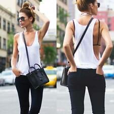 Casual Womens Lady Summer Casual Sleeveless Sexy Vest Tank Tops Blouse T-shirt V