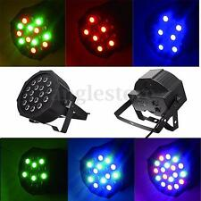 Par 18W RGB LED Stage Light Disco DJ Bar Effect UP Lighting Show DMX-512 Strobe