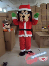 Christmas Dress Goofy Dog Mascot Costume cartoon Cosplay party game dress Adult