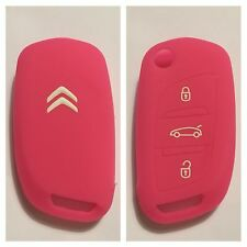 CITROEN C1 C2 C3 C4 C5 DS4 DS5 C0 PINK CAR FLIP KEY SILICONE COVER CASE REMOTE