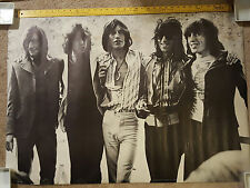 Rare Vintage The Rolling Stones  Personality Poster Signed 1972 39 X 27