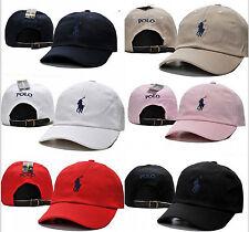 NEW One Size Polo Ralph Lauren Sun Pony Leather Strap Baseball Hat Cotton Cap#@