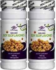 2 bottles Pure Natural Soy Isoflavones 400 mg 100 capsules x 2=200