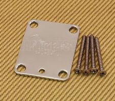 099-1445-100 Fender 4-bolt Chrome Neck Plate w/Screws USA Strat/Tele/Bass