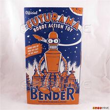 Futurama Bender tin toy wind-up robot action Rocket USA - worn box
