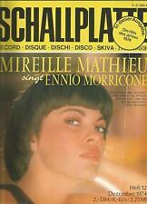 Musikmagazin Schallplatte Nr.12 - 1974 / Mireille Mathieu / Bravo ähnlic /selten
