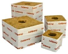 "6pc Cultilene 4"" x 4"" Rockwool Blocks Stonewool Starter Cubes SAVE W/ BAY HYDRO"