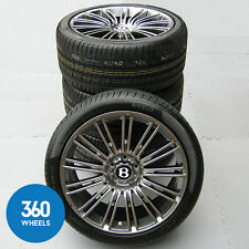 "NEW GENUINE BENTLEY CONTINENTAL GT SPEED 20"" DARK METAL 13 SPOKE WHEELS TYRES"