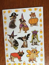 American Greetings Sticker Sheet FREE SHIP Trick O Treat Pets NEW