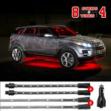NEW! 12pc LED Low Profile Undercar Interior Truck Bed Accent light Kit RED