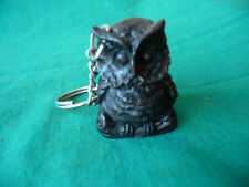 OWL BRONZE RESIN KEYRING NEW