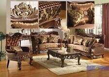 Formal Traditional sofa set 2 Pc Antique sofa & Loveseat Living room Furniture