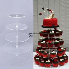 5Tier Hottest US Cupcake Stand Clear Round Acrylic Party Cake Wedding Birthday