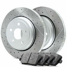 Front R1 Carbon Drill Slot Brake Rotors & Ceramic Pads BMW (535i) 2011-2013