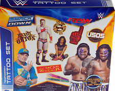 NEW Wrestling WWE Mega Tattoo Gift Set - 10 Sheets Tattoos, Stencil, Gel Pens