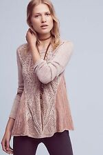 NWT Anthropologie ANTIA SWING TOP SWEATER by MOTH XS PINK KNITTED