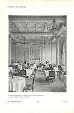 1912 Midland Adelphi Hotel Liverpool French Restaurant Interior Views