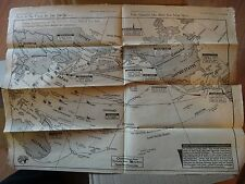 July 5, 1942 Vintage WW2 Houston Texas Newspaper Map of War Zone in the Pacific