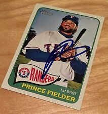 Prince Fielder - Texas Rangers Designated Hitter - Autographed Baseball Card!!!