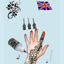 1 Henna Bottle 30ml With 4 Tips Tattoo Applicator For Card Drawing Cake & Craft