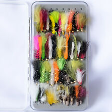 50 stillwater leurres serpentins in a free fly box trout fly fishing flies taille 10