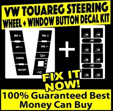 2004-2009 VW TOUAREG BUTTON DECALS STICKERS STEERING + WINDOW SET
